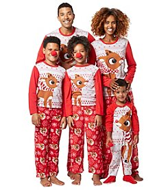 Briefly Stated Rudolph Family Pajamas