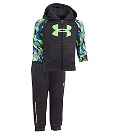 Under Armour Baby Boys' Newborn-24M Big Logo Hoodie Set