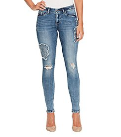 Jessica Simpson Kiss Me Skinny Embroidered Patches Jeans