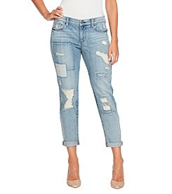 Jessica Simpson Bestfriend With Destructed Patches Jeans