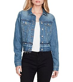 Jessica Simpson Pixie Release Hem Denim Jacket