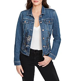 William Rast Sussex Denim Embroidered Jacket