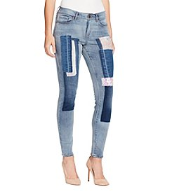 William Rast Perfect Skinny With Patches Jeans