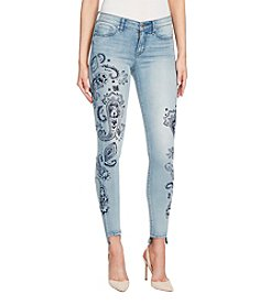 William Rast Perfect Skinny With Flocking Jeans