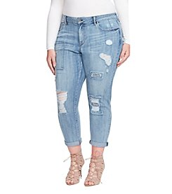 Jessica Simpson Plus Size Bestfriend With Destructed Patches Jeans