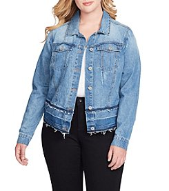 Jessica Simpson Plus Size Pixie Release Hem Denim Jacket