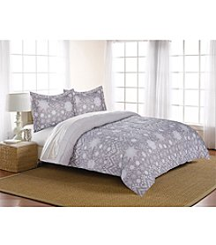 Living Quarters Snowflake Reversible Microfiber Down-Alternative Comforter