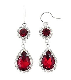 BT-Jeweled Crystal Drop Earrings