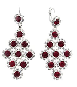 BT-Jeweled Crystal Chandelier Earrings