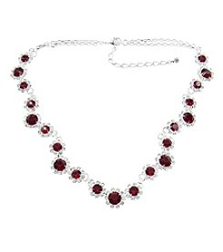 BT-Jeweled Crystal Collar Necklace