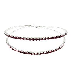 BT-Jeweled Two Row Cuff Bracelet