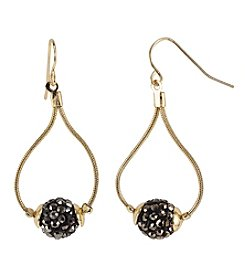 Relativity Goldtone Drop Earrings