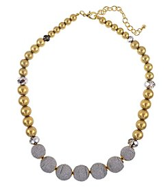 Relativity Two Tone Wrapped Beaded Necklace