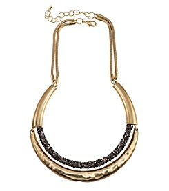 Relativity Goldtone Druzy Collar Necklace