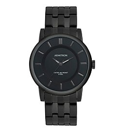 Armitron Men's Black Ion-Plated Bracelet Watch