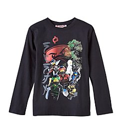 Lego Boys' 8-20 Long Sleeve Ninja Group With Face Tee
