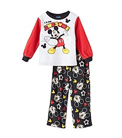 Mickey Mouse Boys' 2T-4T 2 Piece So Awesome Mickey Mouse Fleece Pajama Set