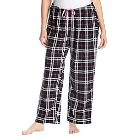 HUE Plus Size Fleece Plaid Pajama Pants