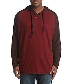 PX- Premium Expression Men's Big & Tall Long Sleeve Hoodie Henley Tee