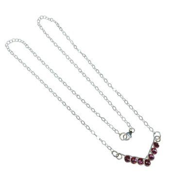 Lexi Butler Designs Pink Crystal Chevron Necklace