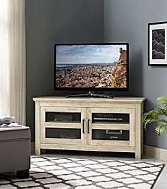 W. Designs Corner Wood TV Console