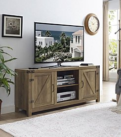 W. Designs Barn Door TV Stand with Side Doors
