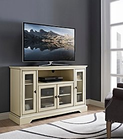 W. Designs Highboy Style Wood TV Stand