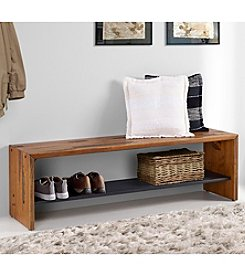 W. Designs Solid Rustic Reclaimed Wood Entry Bench