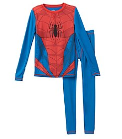 Climatesmart Boys' 4-12 Spiderman Long Sleeve Crew And Pants Set