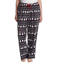 Relativity Plus Size Microfleece Plush Sleep Pants