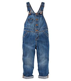 OshKosh B'Gosh Girls' 2T-5T Heart Pocket Overalls