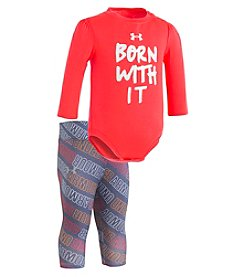 Under Armour Baby Girls' Newborn-12M Born With It Bodysuit And Leggings Set