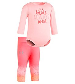 Under Armour Baby Girls' Newborn-12M Girls Always Win Bodysuit And Leggings Set