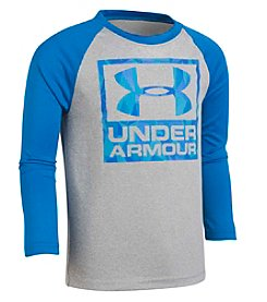 Under Armour Boys' 2T-7 Long Sleeve Geo Cache Raglan Tee