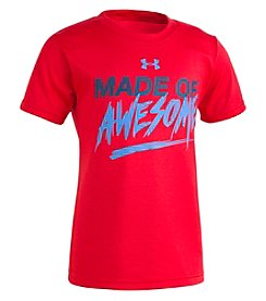 Under Armour Boys' 2T-7 Short Sleeve Made Of Awesome Tee