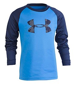 Under Armour Boys' 2T-7 Long Sleeve Utility Camo Big Logo Raglan Tee