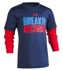 Under Armour Boys' 2T-7 Long Sleeve Breakin Records Slider Tee