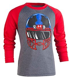 Under Armour Boys' 2T-7 Long Sleeve UA Facemask Raglan Tee