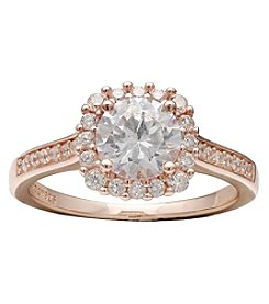 Willow Rose Goldtone Cubic Zirconia Pave Ring