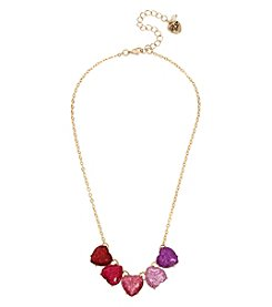 Betsey Johnson Goldtone Heart Frontal Necklace