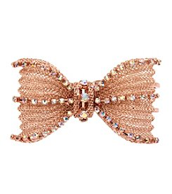 Betsey Johnson Rose Goldtone Bow Hinge Bracelet