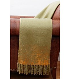 Thro by Marlo Lorenz Herb And Gold Mohair Throw