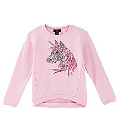 It's Our Time Girls' 7-16 High Low Sweatshirt With Sequins