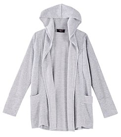 It's Our Time Girls' 7-16 Open Drape Front Cardigan With Hood