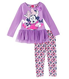 Disney Girls' 2T-6X Long Sleeve Minnie Top And Bow Leggings