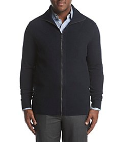 Perry Ellis Men's Big & Tall Solid Ribbed Full Zip Sweater