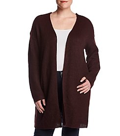 Skylar & Jade by Taylor & Sage Plus Size Lace-Up Back Cardigan Sweater