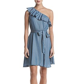 MICHAEL Michael Kors One Shoulder Ruffle Dress