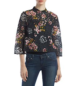 Hippie Laundry Floral Printed Lace Top