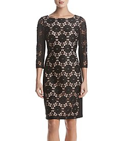 Nine West Lace Ponte Dress